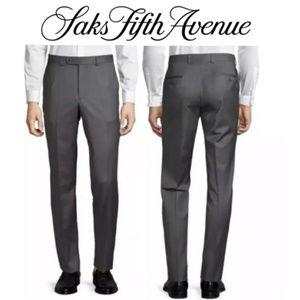 Saks Fifth Avenue Men's 32X30  Dress Pants Gray